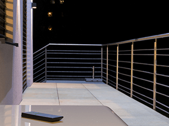 Einfaches Bedienen – Terrasse