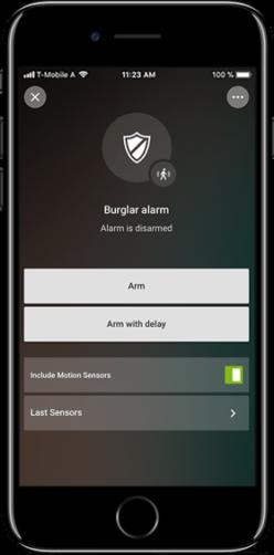 Alarmsystem aktiviert